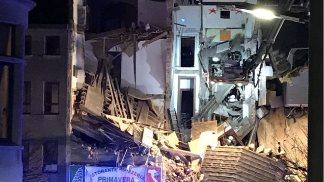 УБельгії потужний вибух зруйнував житловий будинок