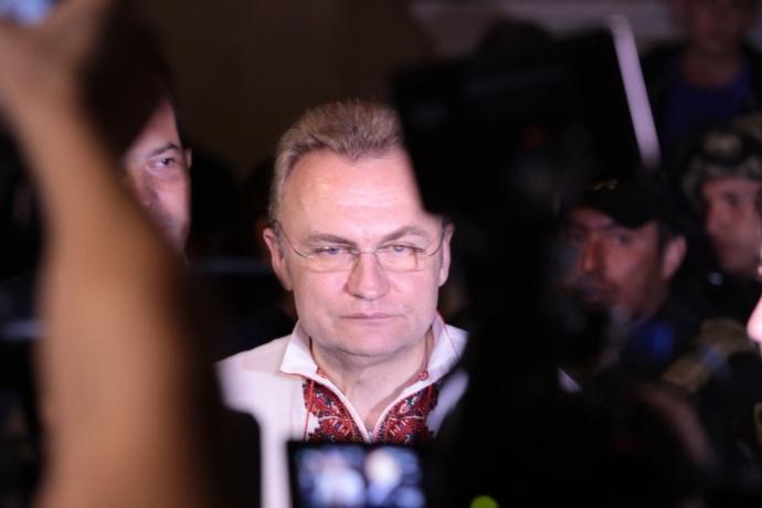 Невідомо, про що насправді думав мер Львова Садовий під час спільного брифінгу з Міхеілом Саакашвілі