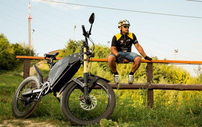В Украине создали гибрида мотоцикла и горного велосипеда