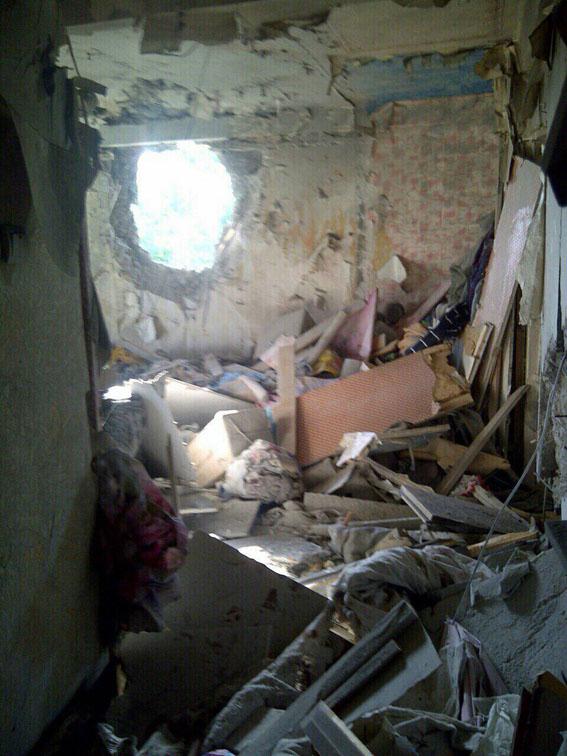 В Красногоровке снаряд попал в дом, ранена женщина
