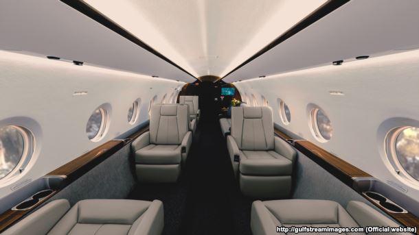 Інтер'єр літака Gulfstream G-280