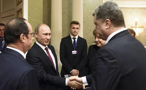 Путін: для зустрічі в«нормандському форматі» щенемає умов