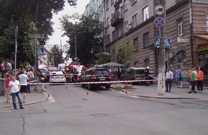 Вибух пролунав вавтомобілі уКиєві, є постраждалий