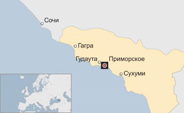 ВАбхазії пролунав потужний вибух наскладі боєприпасів: опубліковано фото і відео