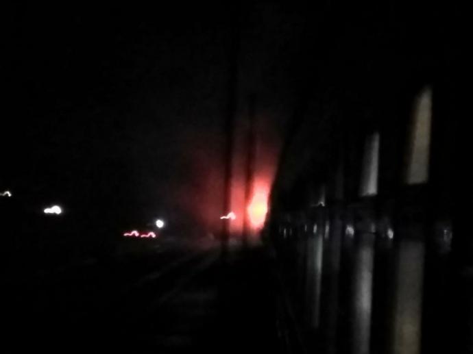 Впоезде Николаев-Киев находу зажегся локомотив