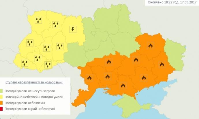 УЗахідній Україні прогнозують шквальний вітер, грози таград