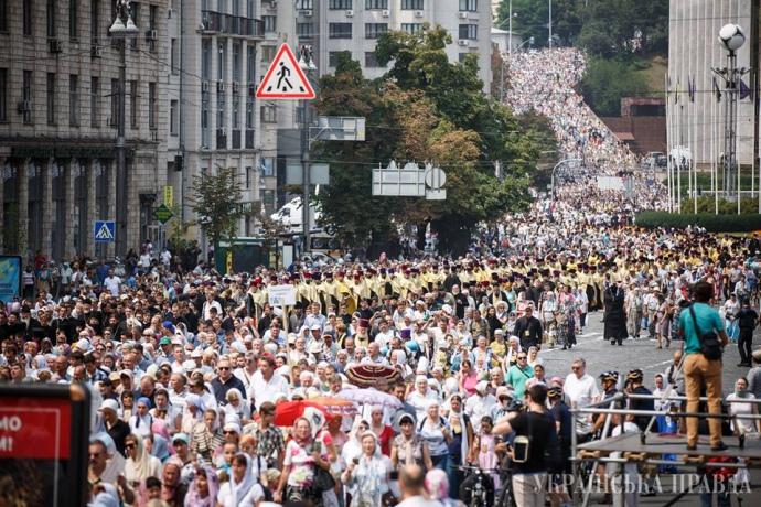 Хресна хода УПЦ МП завершилася 27 липня у Києві
