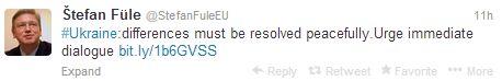 Фюле закликав українські владу і опозицію до переговорів