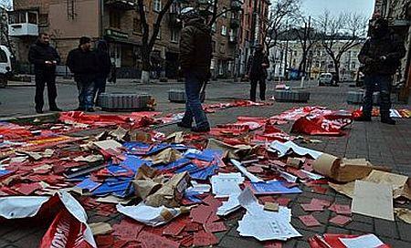 У Києві напали на центральний офіс КПУ