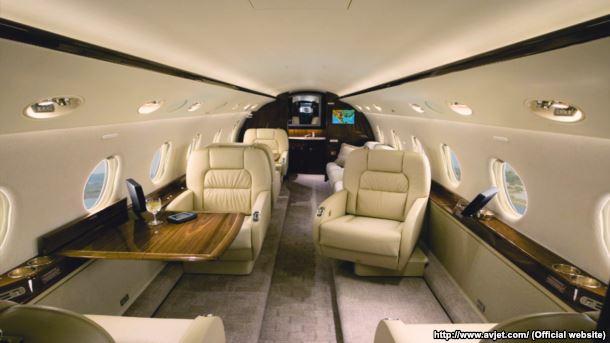Салон Gulfstream G-200
