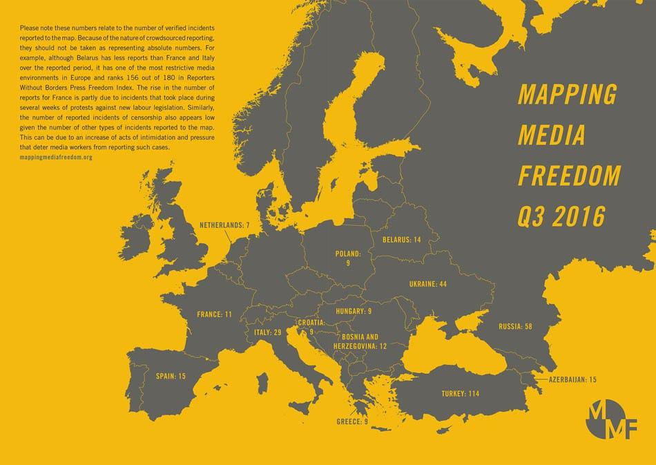 Украина вошла втройку стран помасштабам давления наСМИ