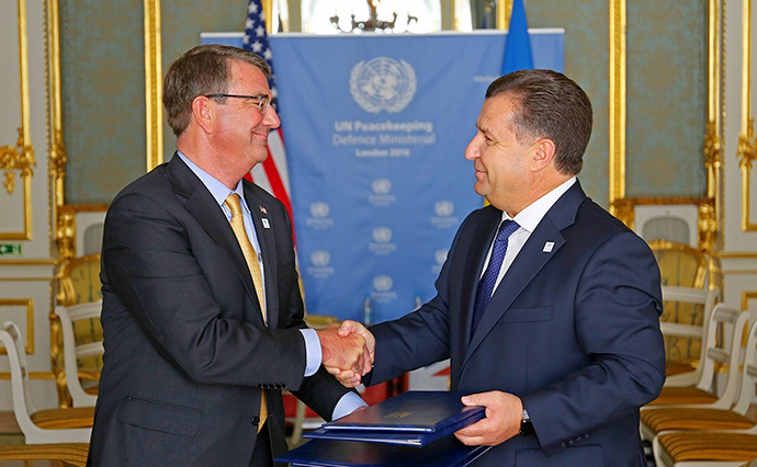 Пентагон подписал соглашение осотрудничестве сМинобороны Украины