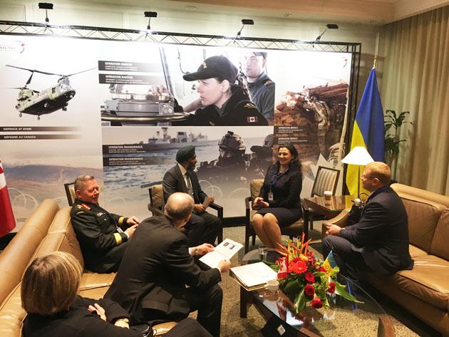 Канада подпишет с государством Украина военное соглашение насотрудничество