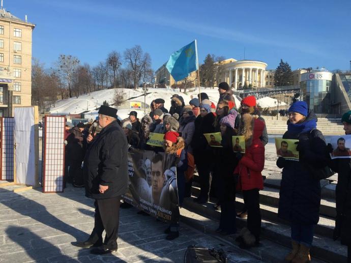 Чубаров на мітингу Krym_SOS і Євромайдан_SOS