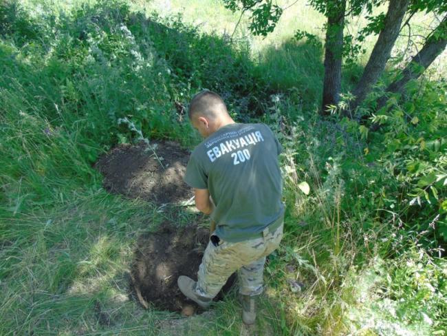 Штирем протикається ґрунт до двох метрів, у разі необхідності знімається його верхній шар