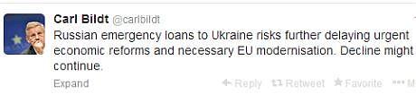 Глава МИД Швеции о российских кредитах
