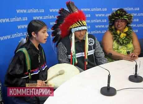 Вожди индейских племен приехали к Януковичу. Фото Натальи Ильиной, Комментарии