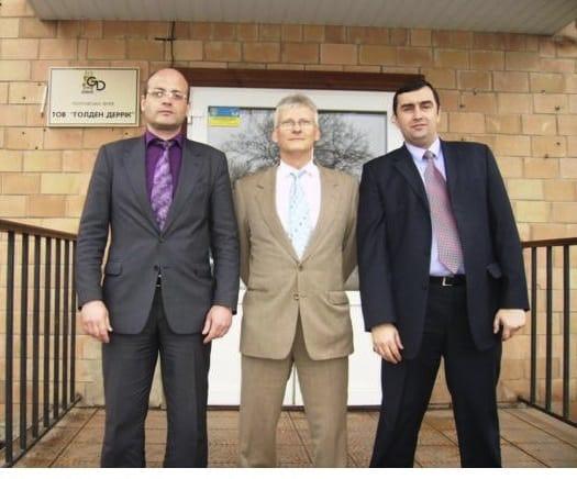 Ближнє коло Ставицького (зліва направо): Олег Проскуряков, Пітер Паллаг, Роман Майдебура