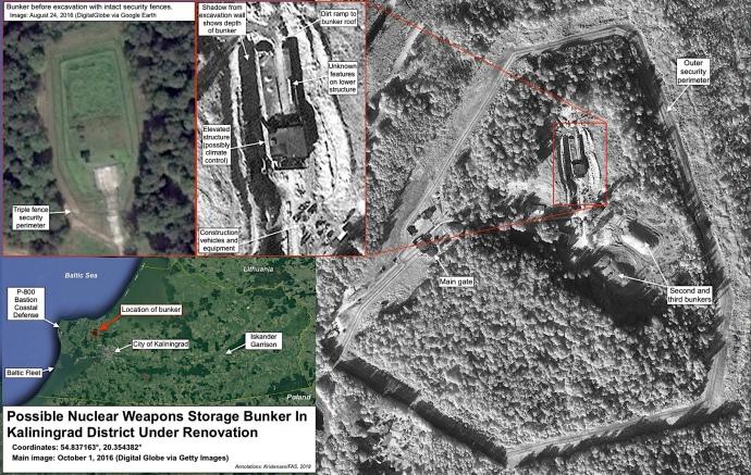 В Калининградской области обновили бункер для хранения ядерного оружия?