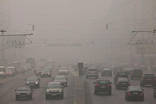 Москва в диму. Відео
