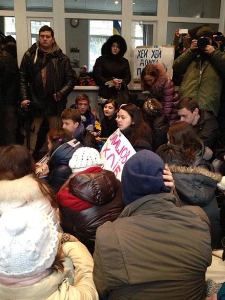 Фото спільноти у Facebook КМА страйкує