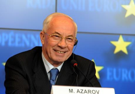 Азаров на прес-конференції в Люксембурзі. Фото прес-служби уряду
