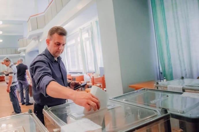 Костянтин Павлов під час виборів 2020 року