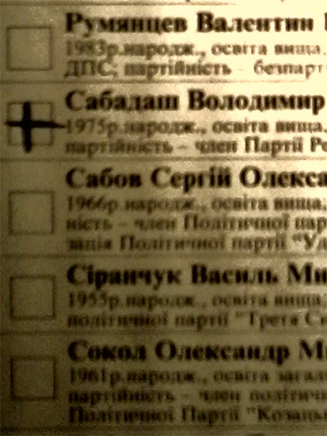 Фото бюллетеней со значками за регионала, сделанные на мобильные телефоны