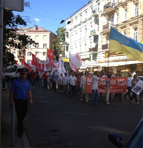 Врадіївчани на вулиці Шота Руставелі. Фото з Facebook Наталі Окунської