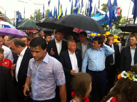 Донецька влада на мітингу. Фото Новости Донбасса