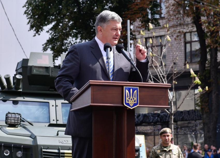 23 серпня 2017 року, Хрещатик. Виступ Петра Порошенка на виставці військової техніки