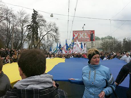 Акция оппозиции в Полтаве. Фото пресс-службы Батькивщины