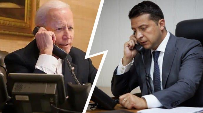 Увечері Зеленський поговорить з Байденом по телефону   Українська правда