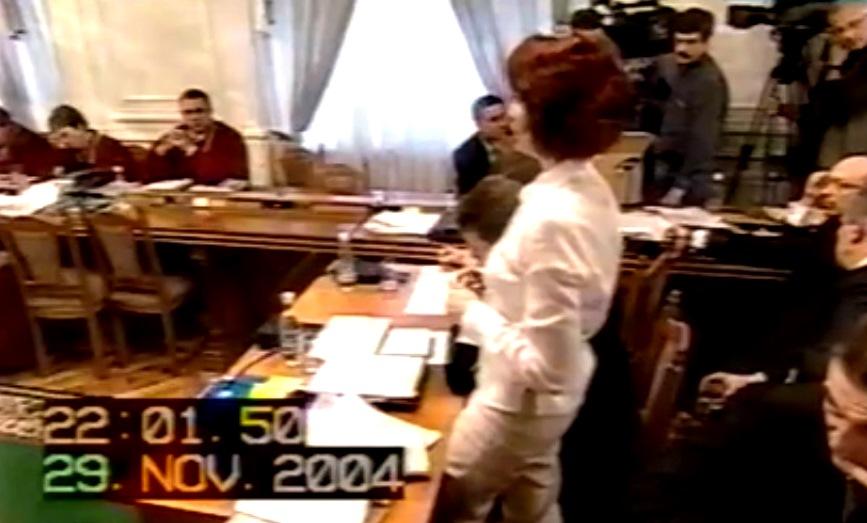 Засідання Верховного суду в 2004 році: тут уперше засяла зірка Олени Лукаш. Кадр із телетрансляції