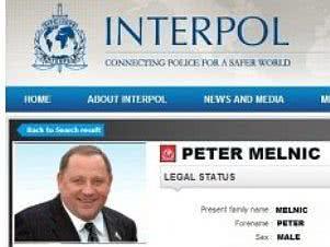 Анкета Мельника на сайте Интерпола. Скрин-шот PHL