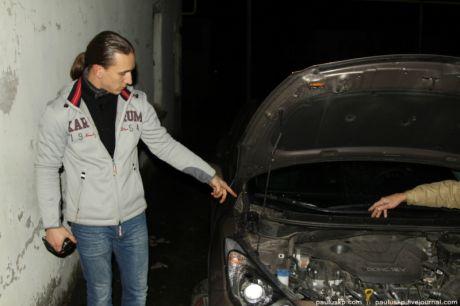 В Донбассе снова сожгли авто активиста Дорожного контроля