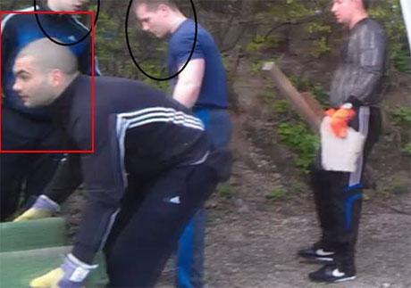 Карпанский во время рейдерского захвата дома Москаленко