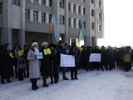 Протест підприємців Львівщини