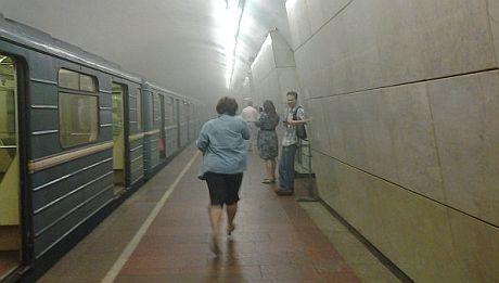 Задымленное метро Москвы