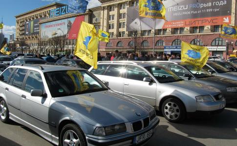 """В поліції розповіли про наслідки акцій """"євробляхарів"""""""
