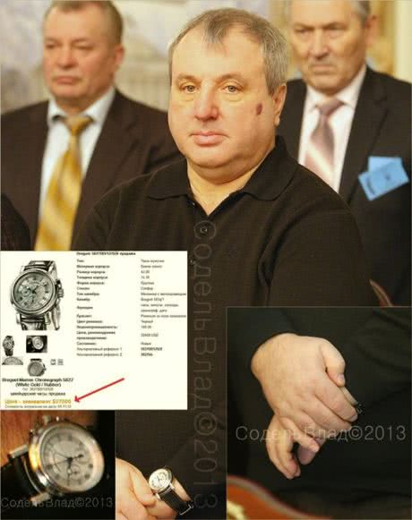 Суддя КС  Овчаренко носить годинник Breguet Marine Chronograph вартістю $27000-32400
