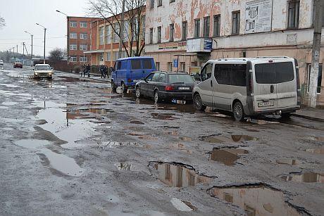 Рава-Русская, дороги в сплошных ямах