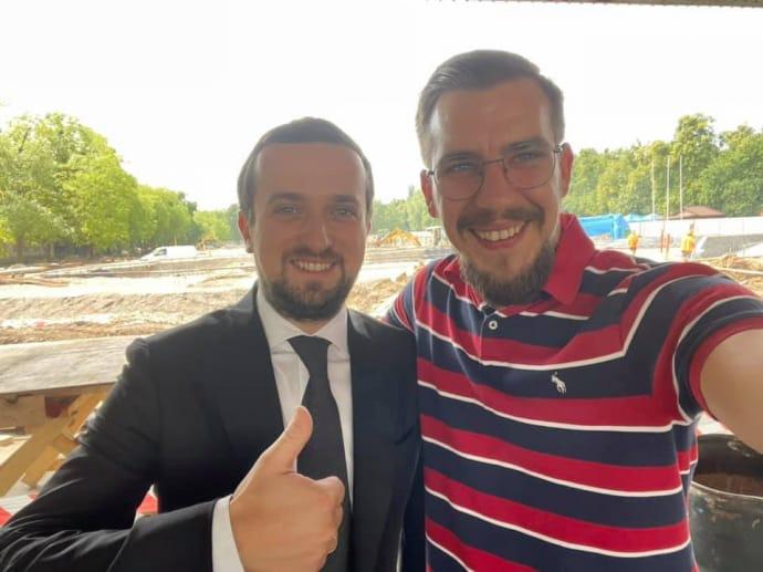 Cергій Биков разом з Кирилом Тимошенко