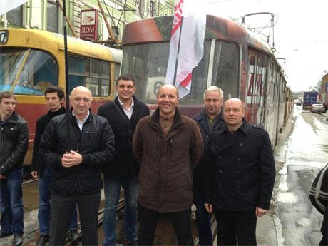 Парубій блокує трамваї Кернеса