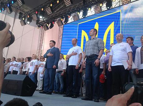 """Многотысячная колонна оппозиционеров двинулась в сторону Софиевской площади, скандируя: """"Зека геть!"""", """"Геть фашизм!"""" - Цензор.НЕТ 1526"""