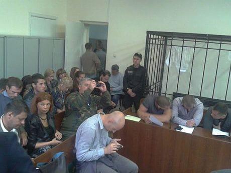 Фото Ольги Сницарчук из заседания суда