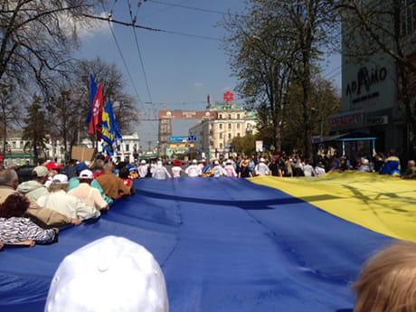 Марш в рамках акції Вставай, Україно! в Сумах. Фото прес-служби Батьківщини