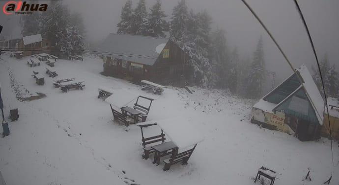 Сніг випав і на горі Тростян біля Славського
