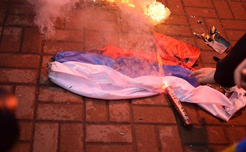 В Киеве нацисты из группировки С14 разгромили российский центр