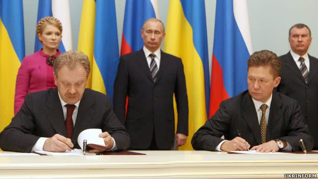Підписання газового контракту 2009 року. Фото: Укрінформ